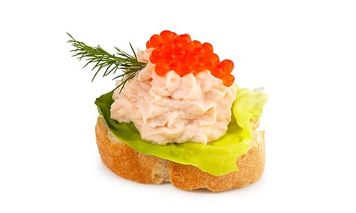 Canapes mit Lachs Creme