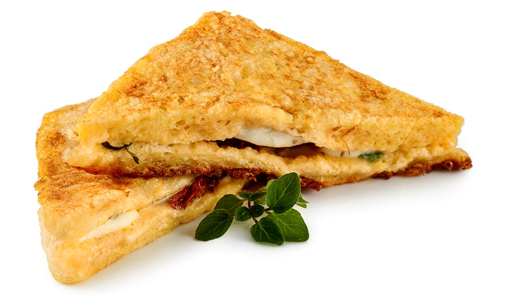 Druckversion vom Tomate Mozzarella in Carrozza Rezept