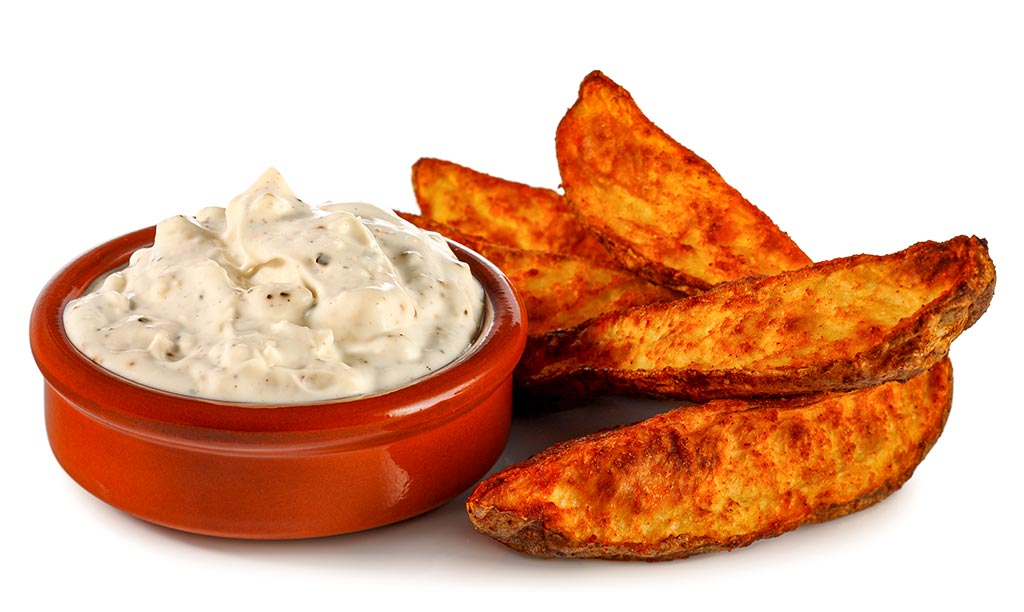 Druckversion vom Country Potatoes & Blue Cheese Dip Rezept