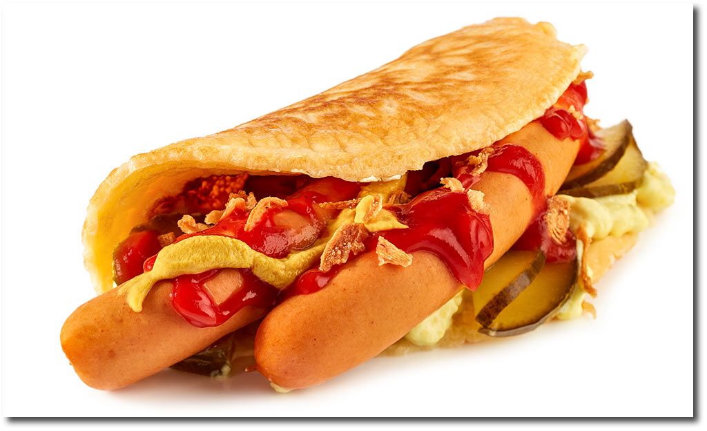 Pfannkuchen Hot Dog